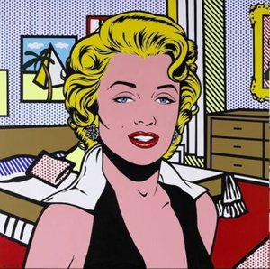 Pittura Roy Lichtenstein olio su tela Pop Art Decor parete Comic Marilyn Monroe Wall Art Home Decor Grande Immagine Per Soggiorno 190.922