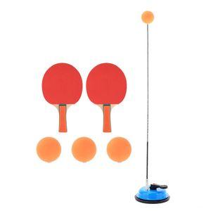 Sucked Type Home Table Tennis Trainer Set Flexible Shaft Practice Table Tennis Leisure Sports & Games Adjustable Office Racket Rebound Myopi