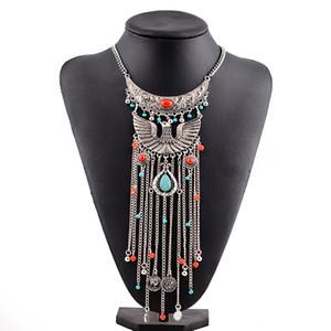 Peacock Quaste Halskette Phoenix stellen alte Hyperbel Halskette