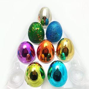 Plastica Uova di Pasqua Variopinte Ecologico Buckle Uova di puzzle Eggs il bambino scherza il regalo Giocattoli giorno di Pasqua fai da te del partito della decorazione Forniture GGA3185-9