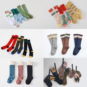 New autumn and winter children's color matching socks a set of three pairs CX200608