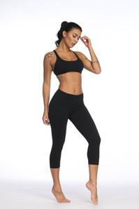 Lu Canada High Quality Women Yoga Gym Sport Leggings Elastic Slim Capris Workout Running Fitness Leggings Women Yogaworld