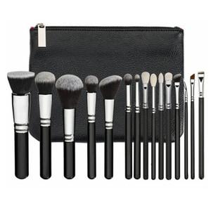 15pcs / Set pinceau de maquillage Set avec PU Sac professionnel Pinceau pour fond de teint poudre fard à joues fard à paupières cosmétiques Brosses HHA-281