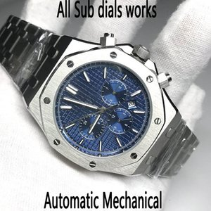 7 colors Men Watch Automatic movement glide smooth second hand sapphire glass ROYAL OAK series 15400 all sub dials works wristwatches