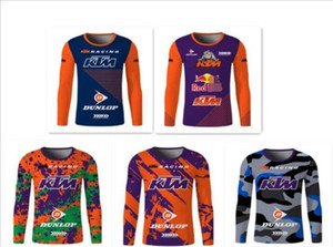 Neue TLD KTM Motocross Downhill Speed-Drying T-Shirt Mountainbike-Sommer-Breathable Sport Langarm Schnell trocknend Top