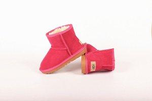 Yeni yüksek kalite Çocuklar Ayakkabı Gerçek Deri Yaylar Çocuk Kız Kar Boots UG5854 ile yürümeye başlayan çocuklar Boots için kar botları