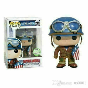 Beauty FUNKO POP Captain America # 219 Marvel Avengers Sammler Figur Spielzeug Exclusive