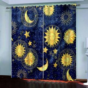 L'alta qualità su misura tessuto della tenda 3d Cielo stellato disegno geometrico europeo Curtains Foto Painted 3D Curtain Soggiorno