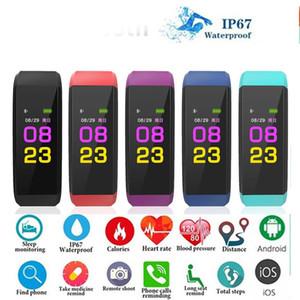ID 115 PLUS Pulsera inteligente Smart Sport Muñequera Actividad de aptitud Rastreador Pedómetro Tasa del corazón Monitor de presión arterial para Android iOS en caja