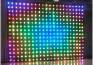 P18 4 Mt * 5 Mt Led Vision Vorhang RGB Led Feuerfeste LED Video Vorhang für DJ Hochzeitshintergründe Off-Line Modus video vorhang dmx Controller LLFA