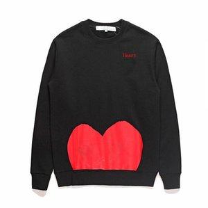 Tide Mens Entwurf Hoodies Beliebte Trend Herz Printing Hoodies Männer und Frauen T AUFMASS Rundkragen Pullover