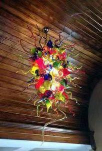 Special Design Blown Glass Chandelier Wedding Royal Luxury Chandelier Bedroom Moroccan Flower Modern Design Pendant Lamp