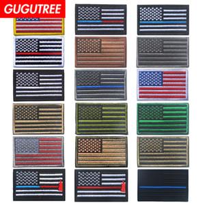 GOOCTREE HOOKLOOP bordado EUA patches patches bandeira nacional emblemas applique patches para roupas SP-482