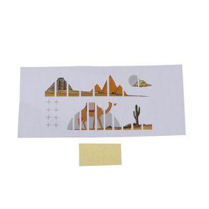 Ukulele Fretboard Hinweis Abziehbilder Finger Aufkleber DIY, Wüste Kamel-Muster