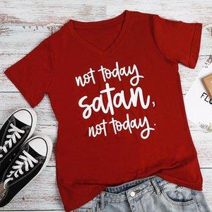 Summer Short Sleeve Baseball T-shirt Women Not Today Satan Luxury tshirt Tops Tees Korean Clothes 2019 Plus Size Korean Clothes