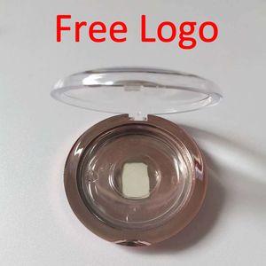 ELB013 faux cils en plastique faux cils boîte ronde boîtes vides cas cil avec carte de base bac et le papier Logo libre