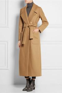 2019 осень зима новый женский X-Long шерстяное пальто двубортный шерстяная смесь ветровка женские тонкие пиджаки пальто