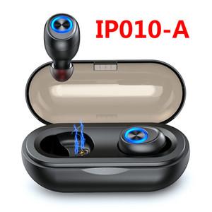 캡슐 무선 블루투스 헤드폰 TWS 이어 버드 블루투스 5.0 이어폰 딥베이스 Hi-Fi 스테레오 사운드 스포츠 헤드셋 IP010-A 스마트 폰용