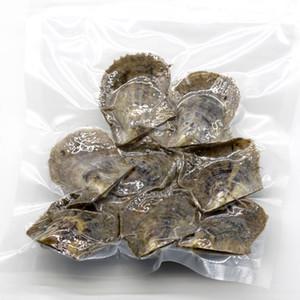 1 bolsa de Akoya de la ostra con 10pcs Oyster dentro, Oyster bolsa con solo gemelos trillizos Quads naturales 6-8mm 66colors alrededor de las perlas en al azar