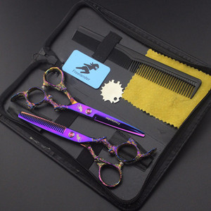 Freelander Cisonsors Kit 6.0inch Style rétro Profissional Cisses de coiffure Ciseaux Ciseaux Ciseaux Ciseaux Ciseaux Ciseaux Cardber Shears Salon de haute qualité