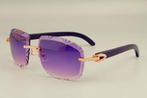 2019 vendas directas transporte livre DHL óculos de sol para lentes de venda a quente 8300075-2 chifres Negros naturais também óculos, diamantes de luxo Sol unisex