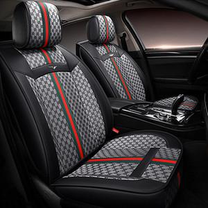 Keten moda dikiş deri oto koltuk kılıfları için Audi a3 a4 A4L Q2 Q3 Q5 Evrensel boyut Tam yeni stil uyum sedan sedan gri set