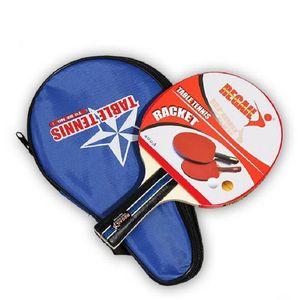 Wholesale 1pc Table Tennis Bat Racket Out Horizontal Grip Training Skyline Sponge Rubber Table Tennis Raquets Free Shipping