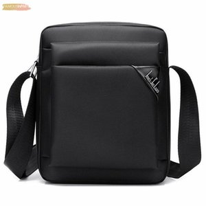 Mens Casual Oxford Solid Zipper Small Messenger Shoulder Bags Business Work Briefcase Laptop Bag Plain Handbag