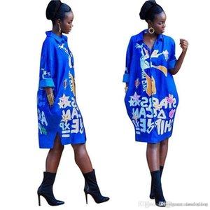 Flora Baskılı Uzun Kollu Yaka Boyun Elbise Tasarımcı Gevşek Moda Kadın Kadın Giyim Kadın Gömlek Dresses