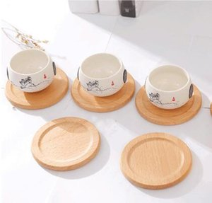DHL Beech Wood Coasters Cup Coffee Tea Cup Pads Drinking Mats Teapot Drink Coaster For Home Decor Bar NN