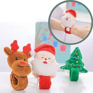 albero di LED del pupazzo di neve di Natale di Santa accarezzò Anello Pops Anello del braccialetto del polso della decorazione scherza il regalo di Natale