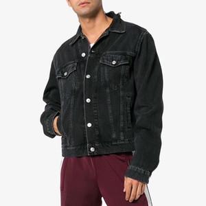 Hombres estilista dril de algodón ocasional de la chaqueta mujeres de los hombres de alta calidad de las capas Azul Negro Moda para hombre de la chaqueta de estilista