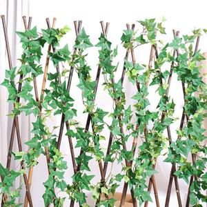 نباتات اصطناعية وهمية الحرير الزاحف الروطان الأوراق الخضراء شنقا اللبلاب كرمة الزفاف ديكور المنزل بالجملة diy شنقا جارلاند الاصطناعي الزهور