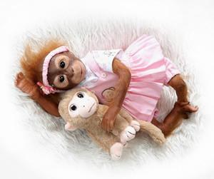 Neue 52 CM Handgemachte Detaillierte Farbe Reborn Baby Affe Neugeborenes Baby Sammeln Kunst Hohe Qualität