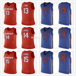 Florida Gators College 13 Joakim Noah 14 Mak Krause 15 John Egbunu Retro Basketball Jersey Cousu hommes Nom Numéro personnalisé Maillots