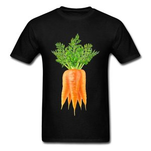 Midnite estrellas durante la zanahoria del cuello de manga corta camiseta hermosa camisa ocasional de la manga superior ocasional 100% de los hombres de algodón