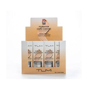Горячая продажа TLM Flawless Изменение цвета макияжа Foundation Base Face Liquid Обложка маскирующее 30мл