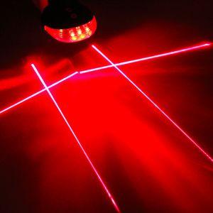 5 ألوان 2 الليزر led ليلة جبل دراجة دراجة الذيل الخلفي ضوء الخلفية mtb السلامة تحذير الضوء الخلفي ضوء مصباح