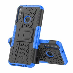 Para Huawei Y9 2019 Primer Y7p dura de la caja suave de la piel de la armadura híbrido Protección de pie P Smart Z silicio para Huawei P40 Lite E Cubierta