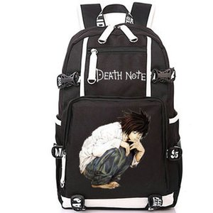 L Lawliet ظهره مذكرة الموت الكرتون حزمة اليوم وقت الفراغ أنيمي حقيبة مدرسية طباعة packsack الكمبيوتر حقيبة الرياضة المدرسية في daypack