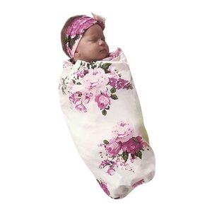 Newborn Infant Baby Towel Swaddle Blanket Baby Sleeping Swaddle Muslin Wrap Headband Set
