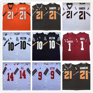 NCAA # 21 Barry Sanders # 1 Hurts # 11 Sam Ehlinger # 14 # 9 colline Victor UCF Knights 10 McKenzie Milton Jersey College Football Maillots Stitched