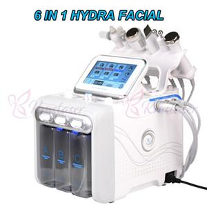 Hydradermabrasion 6 en 1 + épurateur de peau + RF + marteau de refroidissement + ultrasons + oxygène spray machine pour le visage spa
