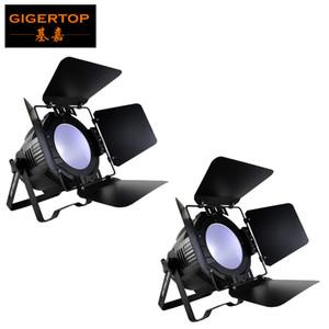 TIPTOP 2 unidades de alta potência 200w LED COB Light Par Professional Stage Lighting DMX LED Par DJ Disco Light com Fold Metal Cover 6in1 Cor