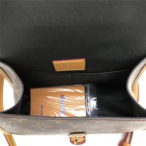 top 126650 Leather classic fashion handbag card bag zero wallet men's and women's backpacks single shoulder bag 126650