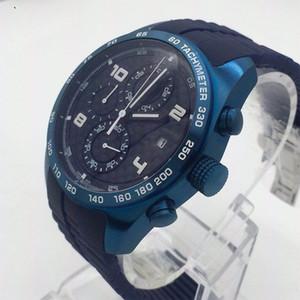Relojes de lujo para hombre Correa de caucho Japón Movimiento de cuarzo Cronógrafo Reloj Todos los Subdiales Trabajo Hombres Reloj de pulsera Venta caliente Relojes masculinos Regalo Reloj