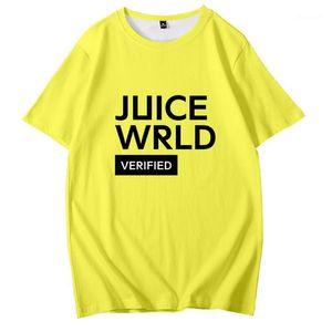 Juice Crew cuello jersey camisetas de moda para hombre de las camisetas para hombre camisetas RIP WRLD Rap cantante 3D Impreso suelta Manga corta