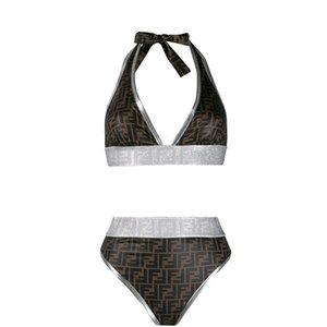 Trendy Brief gedruckte Frauen-Badeanzug-Art und Weise Sequin Shinning Weibliche Bikini Ferien Personality Elastic Mädchen Swim Wear