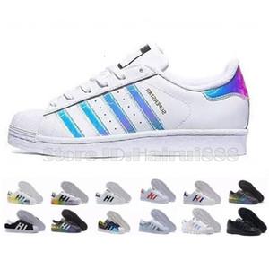 Adidas Superstar shoe 2020 New arrival scarpe di marca di modo delle donne degli uomini di cuoio Uomini Donne Classico dei pattini degli appartamenti casuali 36-45