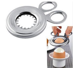 Nuovo uovo sodo con coperchio Topper Cutter In acciaio inox uova cucite Scissor Comodo Clipper Cook Tool Cucina Essential 7 2xf F1